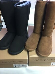 UGG Australia Kids Classic Tall 5229/5229Y BLACK/CHESTNUT Sizes 2-6