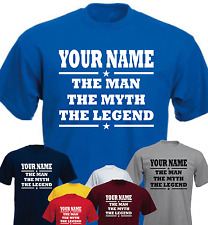 Your Name The Man The Myth The Legend Funny Present Gift New T-shirt