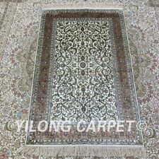 YILONG 2.5'x4' Handknotted Silk Carpet Dining Room Vintage Area Rug H157B