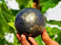 Large 85mm Natural Apache Gold Crystal Quartz Healing Reiki Energy Stone Sphere