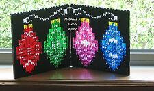 Lego Mosaic Christmas Holiday Ornaments Lights - Custom Kit