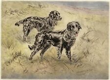 FLATCOATED RETRIEVER DOG ART LIMITED EDITION PRINT ENGRAVING Henry Wilkinson