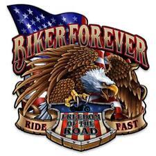 EAGLE FREEDOM BIKER FOREVER Metal Sign Man Cave Garage Body SHOP Cabin Shed BARN