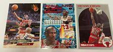 Lot of 3 Rare NBA Hoops / Topps / Fleer Michael Jordan #65 #1 #30 Sports Cards