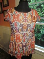 WESTON WEAR SPROUTED PEPLUM ANTHROPOLOGIE TOP SIZE SMALL PRE-OWNED