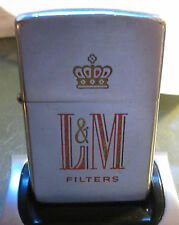 Vintage RARE 1959 L&M Cigarettes ZIPPO LIGHTER SERVICED BY ZIPPO NICE