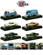 DETROIT MUSCLE 6 CARS SET SHELBY RELEASE 29 W/CASES 1/64 M2 MACHINES 32600-29