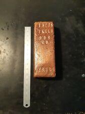 More details for copper 1 kg ingot.