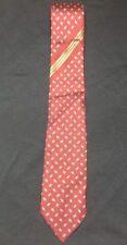 BRIONI Roma Burgundy & Gold Stripe Men's 100% Pure Silk Neck Tie Necktie - Italy