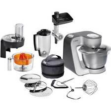 New Bosch MUM59340GB Stand Mixer 1000 Watt Silver 2 Year Gtee Kitchenaid Kenwood
