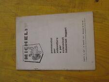 Alfa Romeo , Lancia , Fiat, catalogo Michelin Pneumatici anni 60