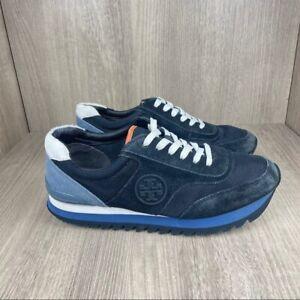 Tory Burch Logo Sneakers Size 7 Blue