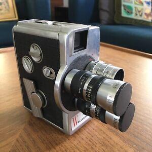 Vintage Wollensack Eight Model 23 8mm Super 8 Movie Camera w/Light