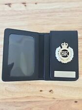 Leather ID Card Wallet With Attached Regimental badge