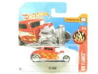 Hotwheels 32 Ford Red HW Flames Short Card 1 64 Scale Sealed