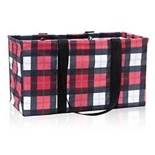 LARGE UTILITY TOTE Thirty One Laundry Basket Bag picnic 31 gift Check Mate new
