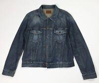 Energie jeans XXL uomo jacket denim giacca giubbino vintage usato bomber T4506