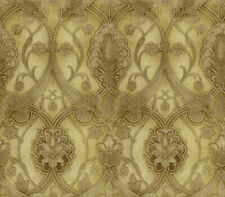 Chesapeake by Brewster ART25065 Yellow Elisabetta Damask Wallpaper