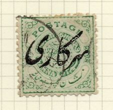 India 1909-11 Early Issue Fine Used 1/2a. Optd 207741