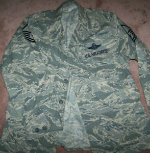ABU SHIRT, AIR FORCE ABU DIGITAL TIGER CAMO, 44 REG, U.S. ISSUE *NICE*