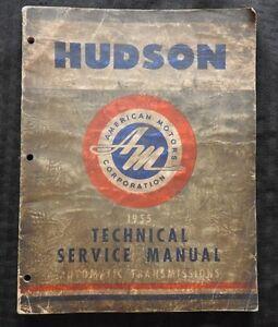 1955 HUDSON HORNET WASP RAMBLER HYDRA-MATIC ULTRA-MATIC TRANSMISSION REPAIR BOOK
