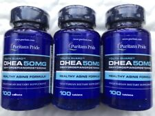 DHEA X3 BOTTLES 50MG. 100 PER BOTTLE TOTAL 300 FREE SHIPPING WORLDWIDE FROM UK