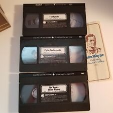 John Wayne Collector's Limited Edition Box Set Of 3 VHS Tapes Westerns W/Paper