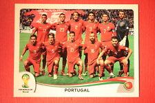 Panini BRASIL 2014 N. 508 TEAM PORTUGAL WITH BLACK BACK TOPMINT!!