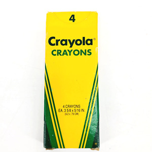 Vintage 1992 CRAYOLA 4 Crayons Box New Deadstock Binney & Smith Made in USA