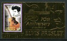 DOMINICA 2005 Elvis Presley Musik Gold 3670 ** MNH