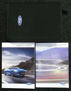 GENUINE FORD FOCUS HANDBOOK OWNERS MANUAL + SERVICE HISTORY BOOK 2018-2021 PACK