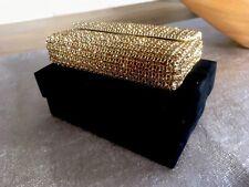 Goldene Glamour Clutch Bag Swarovski Glitzertasche Glitter Cosmetic Abendtasche