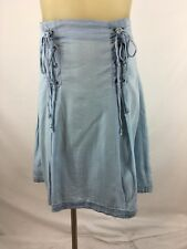 f7a09529080 Torrid women s blue chambray skirt size 10 pleated Tencel New