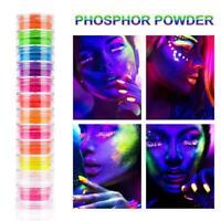 12PC Nail Powder Neon Pigment Dust Ombre Glitter Gradient Art Acrylic K1W4