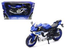 New Ray 1/12 2016 Yamaha YZF-R1 Blue Motorcycle Diecast Model Car Blue 57803A