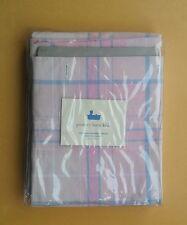 pottery barn kids girls pink shower curtain tate plaid 100% cotton free ship