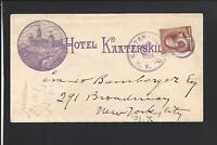 KAATERSKILL,NEW YORK, ILLUST HOTEL ADVT COVER,MATCHING ENCL. HOTEL KAATERSKILL.