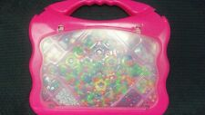 Pink Carrying Case full of 100's of All Different Types of Plastic Beads