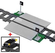 LEGO Train Track Level Crossing Set Double Car Width & Buffer Stop 60197 60198