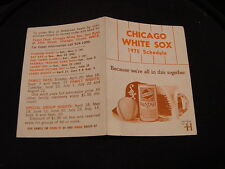 BEAUTIFUL 1975 Chicago White Sox Falstaff Beer Pocket Schedule, NICE!!