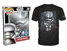 2015 NYCC COMIC CON EXCLUSIVE FUNKO POP STAR WARS CAPTAIN PHASMA SHIRT LARGE 250