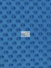 """DIMPLE DOT MINKY FABRIC - Royal Blue - 60"""" SEW-SOFT BABY FABRIC RAISED CHENILLE"""