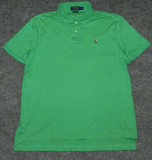 POLO RALPH LAUREN PIMA SOFT TOUCH S/S POLO Green w/ Detailed Pony sz L Shirt