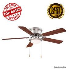 Hugger 52 in. Brushed Nickel Ceiling Fan,Energy Efficient,Modern, AL383-BN NEW