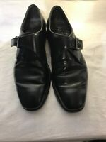 Barker Mens Black Leather Monk Strap Shoes Uk 6c Ref Ba03