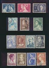 Greece Crown Prince Constantine 1956 Set of 14 Used #587-600 Complete $6.10 Valu