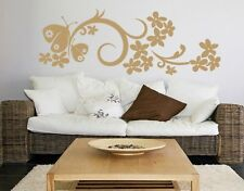 Butterfly Flower - Highest Quality Wall Decal Sticker