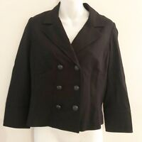 CAbi Womens Colette Ponte Blazer Sz Small Coat Black #215 Double Breasted Jacket