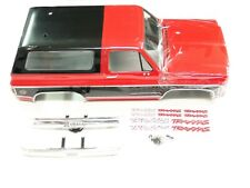 NEW TRAXXAS TRX-4  Body BLAZER K5 Painted BLACK & RED Chrome Bumpers RV3K
