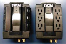 SYCOM Surge Protector, 6 AC Outlets,Telephone/Fax & Coax, Lifetime Warranty, 1ea